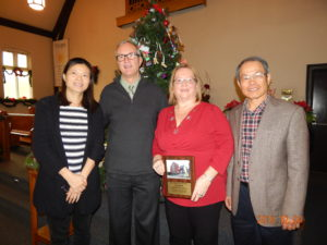 Pastor Joshua, Jan and Linying with Pastor Jim
